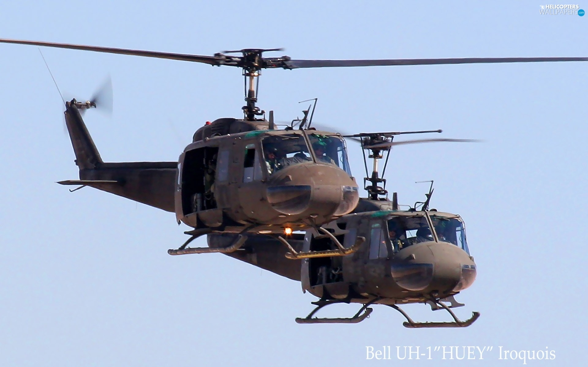 Elicottero Uh 1 : Bell uh huey iroquois helicopters wallpapers
