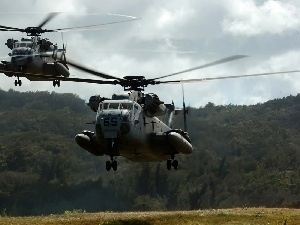 Super Stallion, Helicopters, airstrip