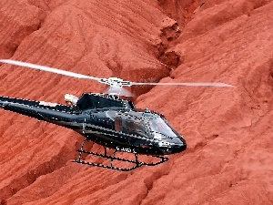 Eurocopter AS-350 Ecureuil, rocks